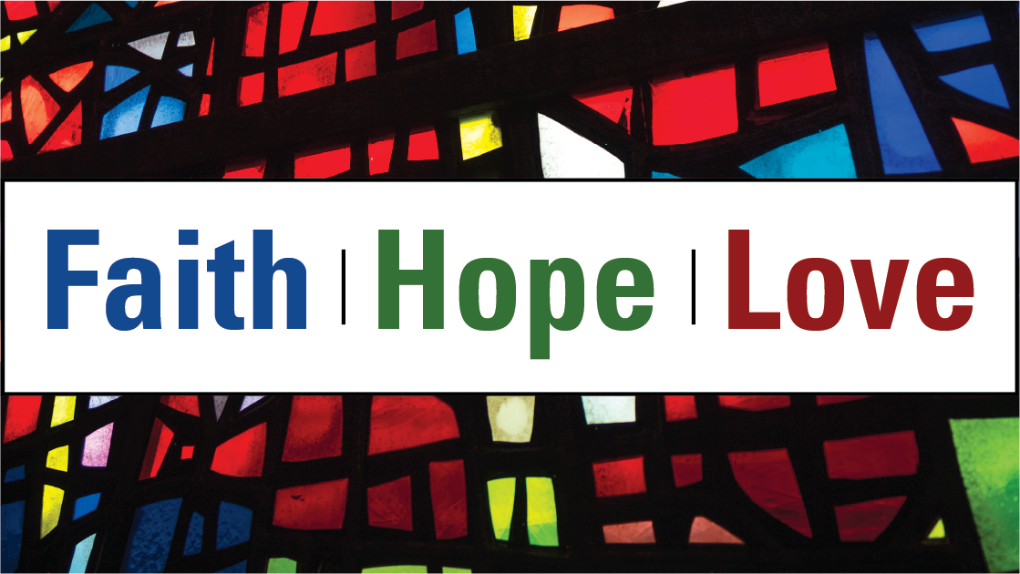 Faith Hope Love horizontal